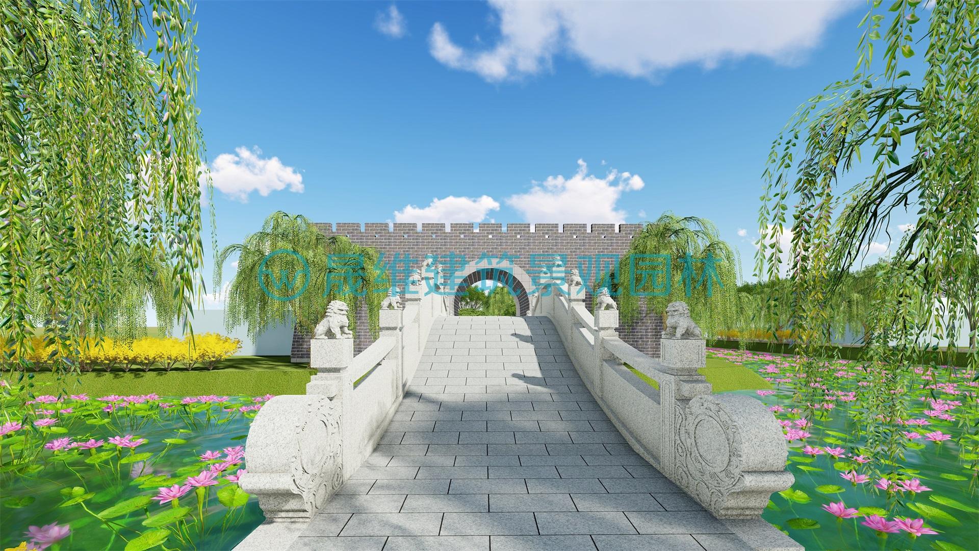 鱼台县罗屯镇党群服务中心广场景观设计