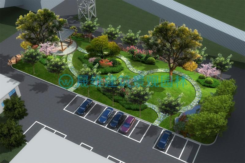 济南绿化设计公司案例平阴胡庄社区停车场设计案例