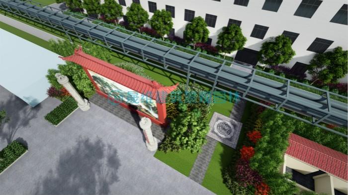 扬州日兴生物科技厂区绿化设计