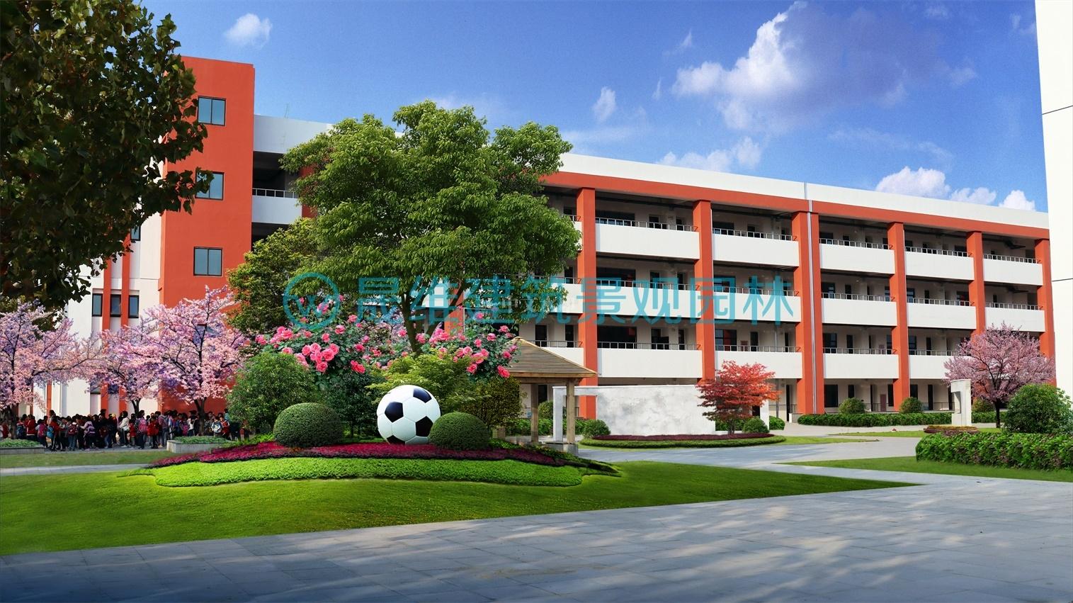 校园景观设计效果图