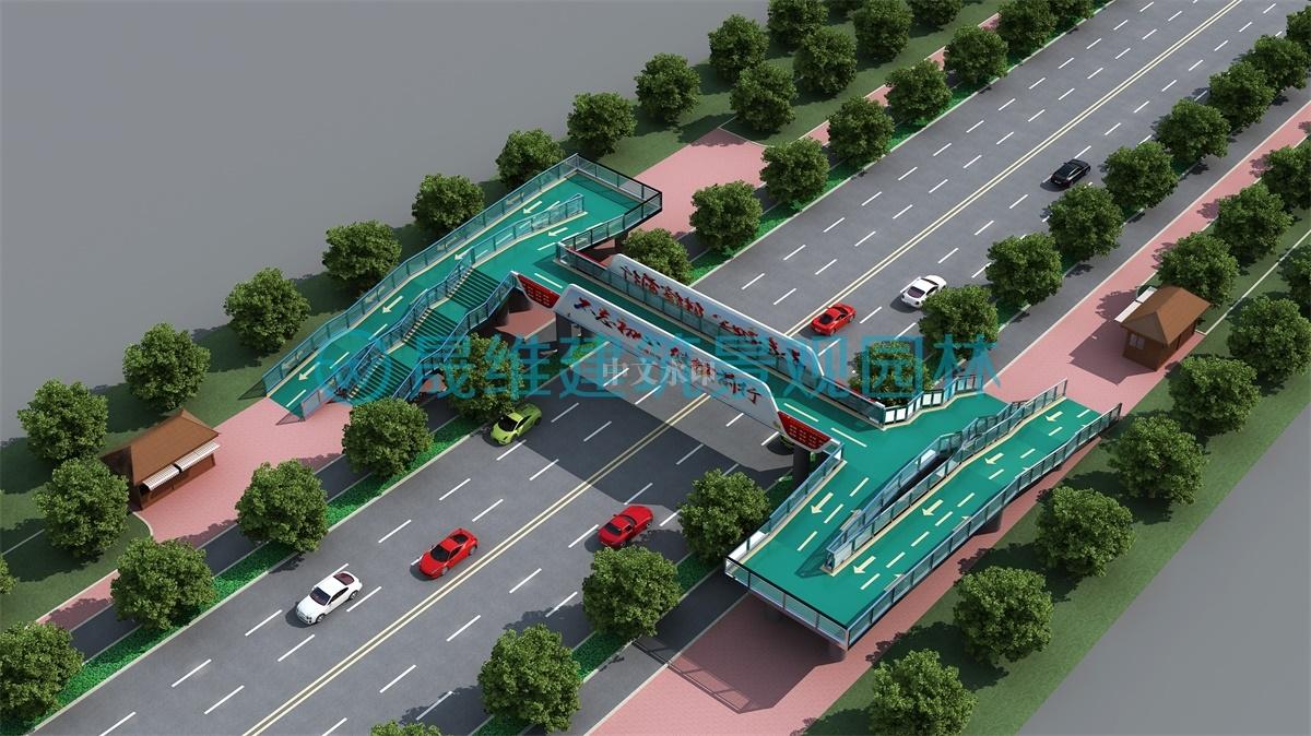 济宁天桥效果图设计