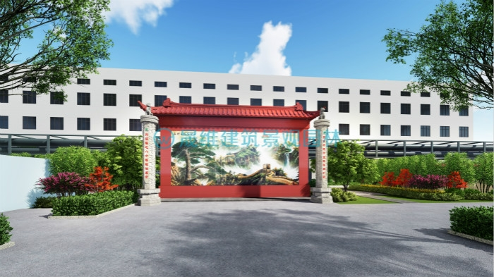 扬州日兴生物厂区景观绿化设计